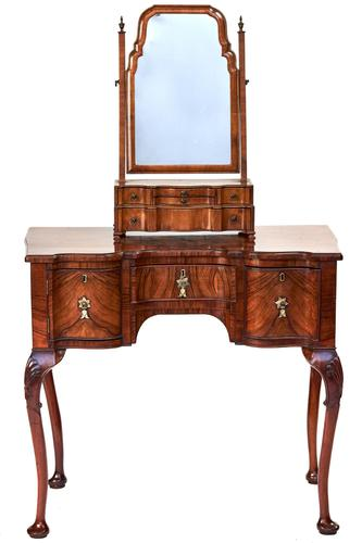 Georgian Walnut Revival Dressing Table with mirror (1 of 7)