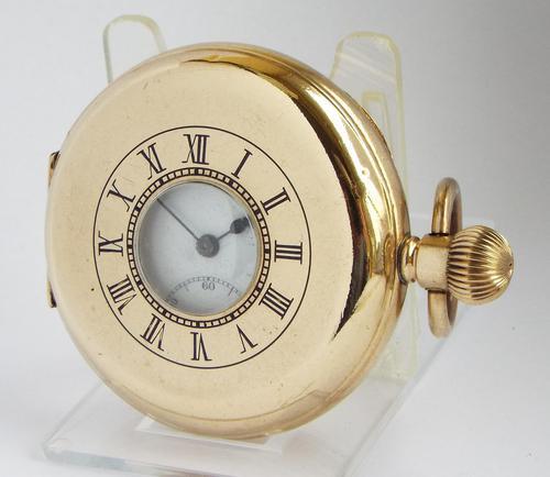 1930s Sun Dial Half Hunter Pocket Watch by Cyma (1 of 6)