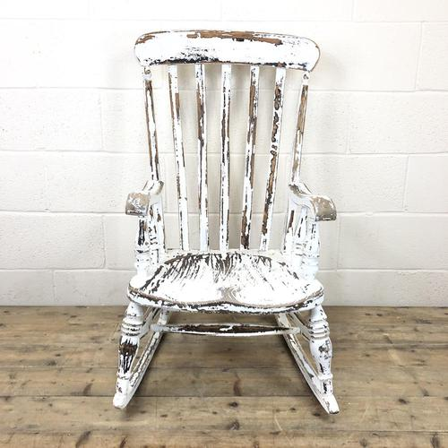 Antique Distressed Painted Rocking Chair (1 of 9)