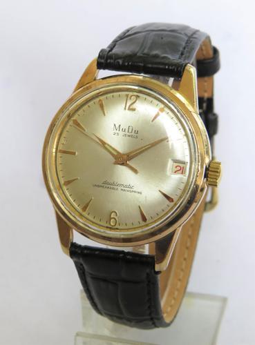 Gents 1950s MuDu Doublematic Wrist Watch (1 of 4)