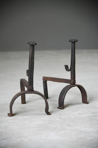 Antique Iron Firedogs (1 of 12)