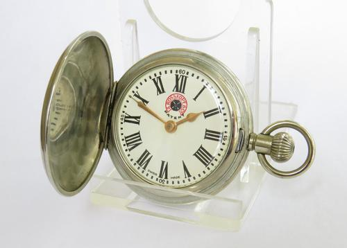 Small 1950s Full Hunter Pocket Watch, A Rosskopf & Co (1 of 4)