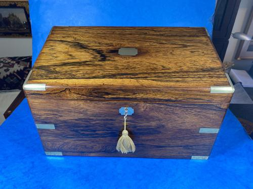Victorian  Rosewood Stationary Box (1 of 33)