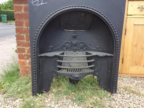 Antique Cast Iron Fireplace Insert with Hob Shelves (1 of 3)