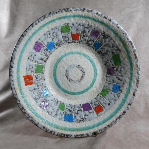 West German, Bay Keramik, Oslo Decor Fruit Bowl (1 of 5)
