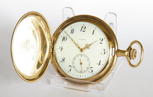 Antique 1914 Elgin Full Hunter Pocket Watch (1 of 5)