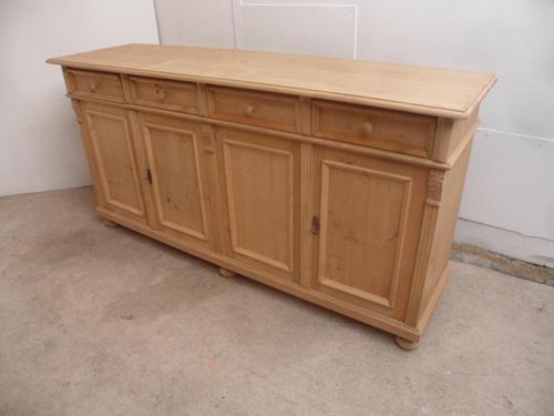 Reclaimed Pine 4 Door 4 Drawer Sideboard / TV Stand / Dresser Base to Wax / Paint (1 of 9)