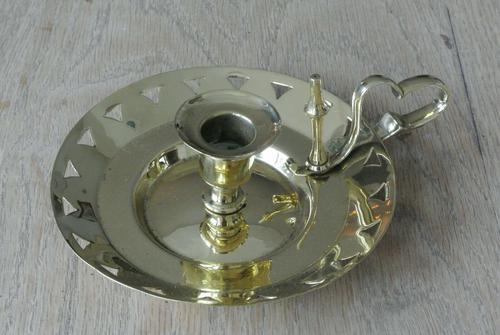 Victorian Benham & Froud Brass Chamberstick c.1880 (1 of 7)