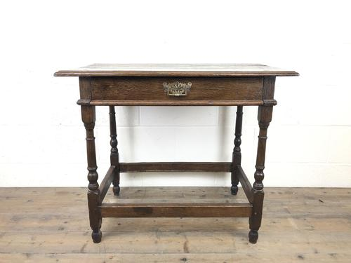 Early 18th Century Joined Oak Side Table (1 of 8)