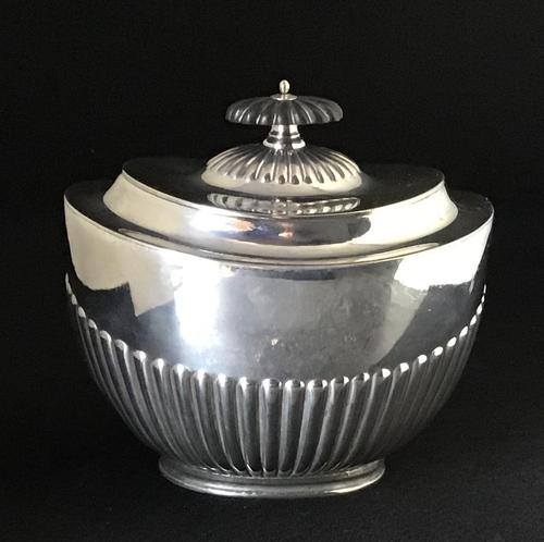 Victorian Silver Plate Oval Tea Caddy (1 of 4)