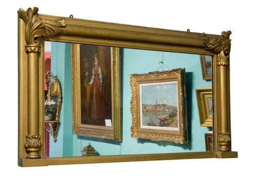 William IV Period Rectangular Overmantle Mirror (1 of 4)