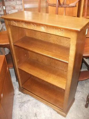 Carved Open Bookcase (1 of 2)