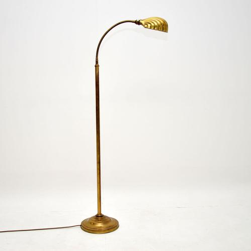 Vintage Brass Clam Shell Floor Lamp by Christopher Wray (1 of 5)