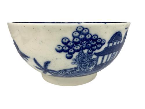 Antique Blue & White Transfer Print Pottery Bowl c.1800 (1 of 8)