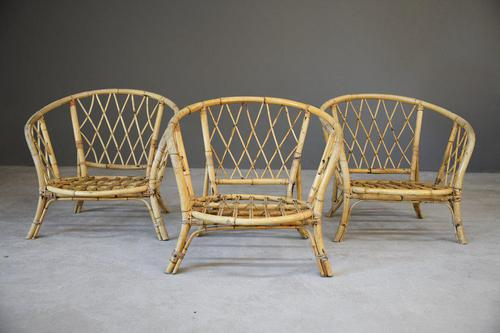 Single Bamboo Cane Tub Chair. (1 of 12)