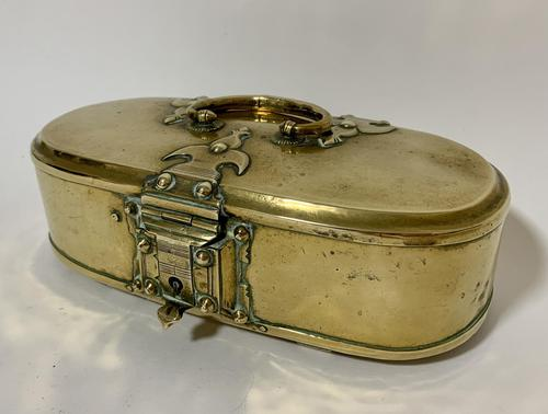Antique Eastern Brass Dowry Box (1 of 11)