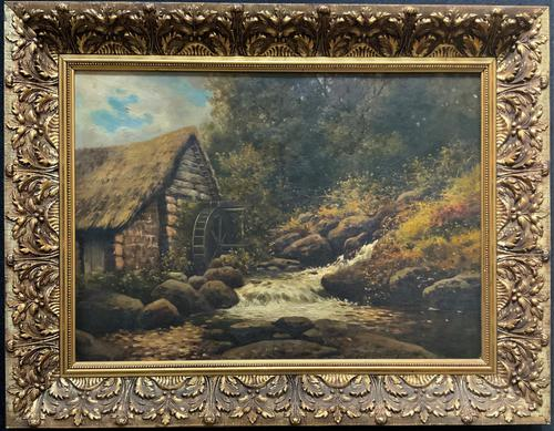 H Sinclair Jackson Superb 19th Century Watermill Landscape Oil Painting (1 of 14)