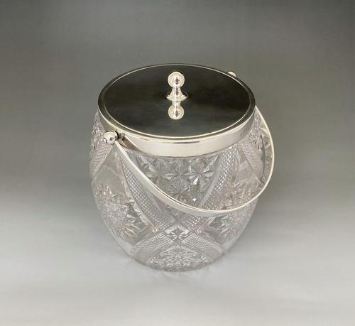 Superb Silver Mounted Victorian Biscuit Barrel (1 of 7)