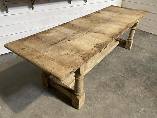 Large French Oak Rustic Farmhouse Dining Table (1 of 20)