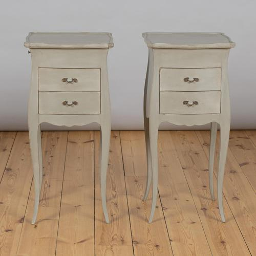 Pair of Large French Painted Bedside Cabinets (1 of 9)