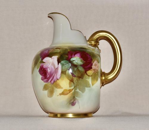 1887 Large Royal Worcester Porcelain Ewer (1 of 8)