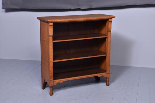 Late Victorian Oak Open Bookcase (1 of 8)