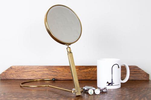 1930s Gentleman's Travel Shaving Ladies Vanity Mirror (1 of 13)