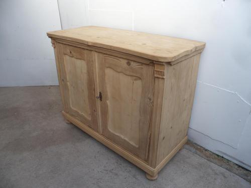 A Pretty Georgian 2 Door Antique/Old Pine Kitchen/Storage Cupboard to Wax/Paint (1 of 10)