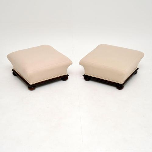 Pair of Antique Victorian Foot Stools (1 of 8)