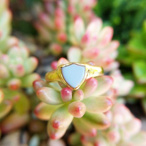 Antique 18ct Yellow Gold Sardonyx Pinky Shield Ring, Chester Hallmarks (1 of 6)