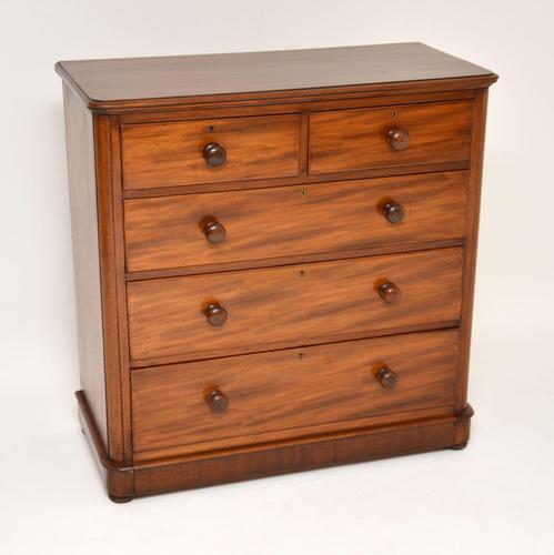 Antique Victorian Mahogany  Chest of Drawers (1 of 8)