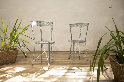 Charming Pair of Small French Metal Garden Chairs (1 of 13)
