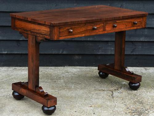 Superb Quality Early 19th Century Regency Rosewood Library Table c.1820 (1 of 8)