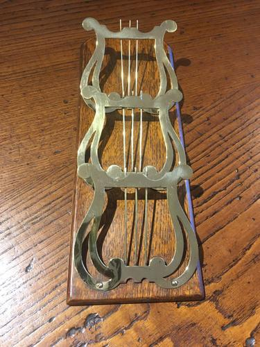 Brass Wall Mounting Letter Rack (1 of 3)