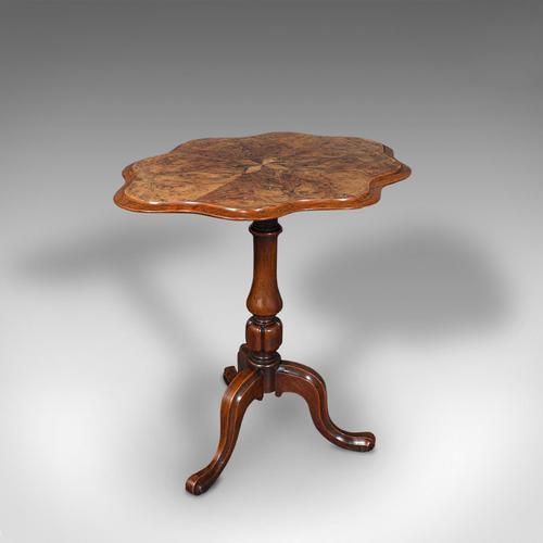 Antique Wine Table, Mahogany, Burr Walnut, Inlay, Side, Marquetry, Regency, 1820 (1 of 12)