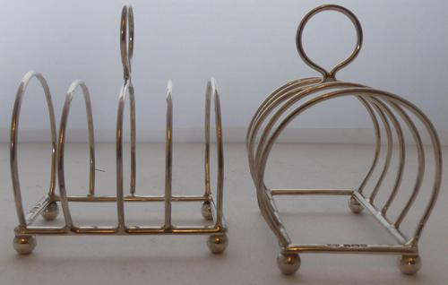 Pair of 1935 Solid Hallmarked Silver Toast Rack Racks William Hutton 99g (1 of 7)