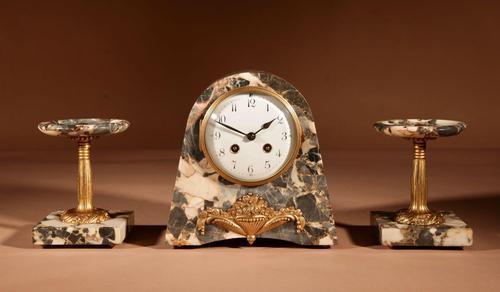 Art Deco French Very Stylish Elegant Clock Garniture c.1920 (1 of 8)