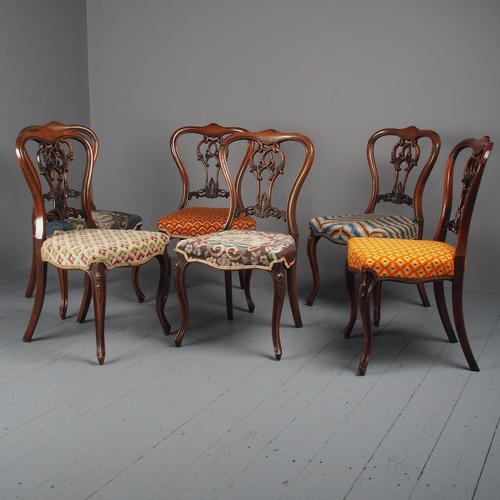 Set of 6 Mid Victorian Rosewood Dining Chairs (1 of 14)