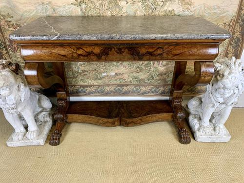 19th Century Burr Walnut Console Table (1 of 8)