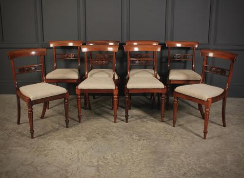 William IV Set of 8 Rosewood Dining Chairs (1 of 18)