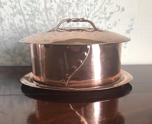 Guild of Handicraft Attributed Copper Lidded Pot (1 of 5)