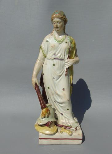 Staffordshire Pearlware Figure Peace Allegory Early 1800s (1 of 9)