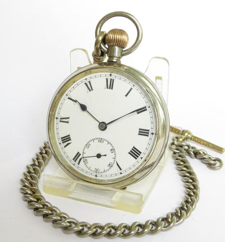 Antique Valmor Pocket Watch & Chain (1 of 6)