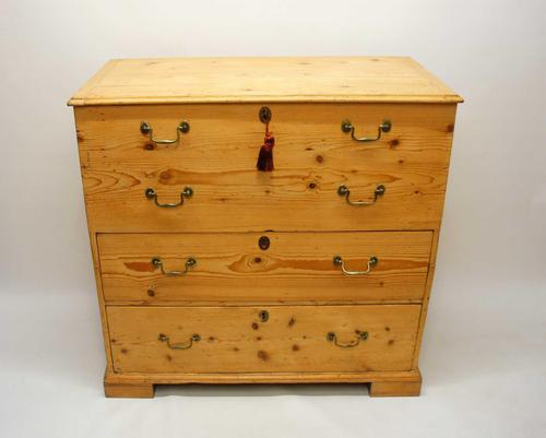 Large  2 Part Victorian Pine Mule Chest - Refurbished (1 of 27)