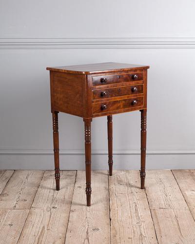 Late Regency Mahogany Work Table (1 of 4)