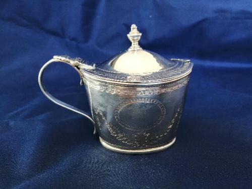 Georgian Silver Oval Mustard Pot (1 of 9)