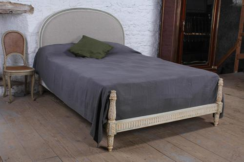 Newly upholstered French low end king size bed (1 of 6)