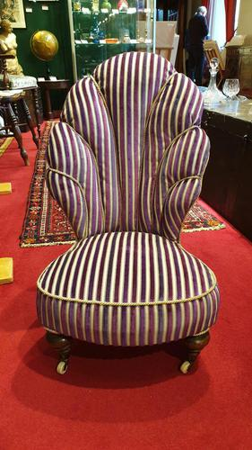Unusual French 19th Century Upholstered Child's Chair (1 of 7)