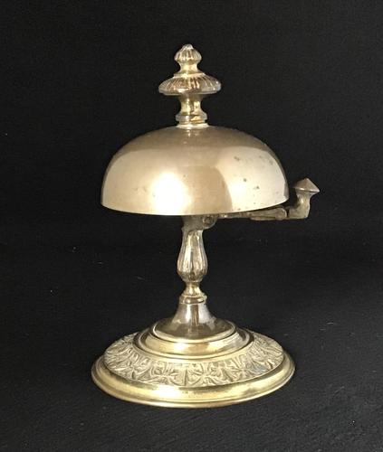 Late Victorian Brass Reception Bell (1 of 4)