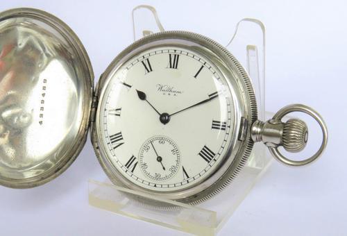 Silver 1926 Waltham Full Hunter Pocket Watch (1 of 5)